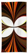 Abstract Triptych - Brown - Orange Beach Towel