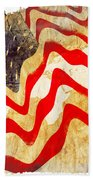 Abstract Usa Flag Beach Towel by Stefano Senise