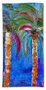 Abstract Venice Palms Beach Towel