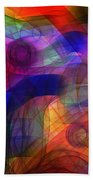 Abstract Watercolor Beach Towel