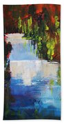 Abstract Waterfall Painting Beach Towel