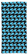 Abstract Waves On A Black Background Beach Towel