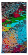 Abstract Wet Pavement Beach Towel