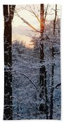 Abstract Winter Sunset Beach Towel