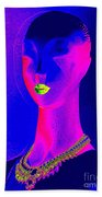 Abstract Woman Beach Towel