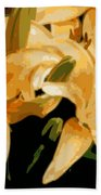 Abstract Yellow Asiatic Lily - 1 Beach Towel