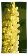 Abstract Yellow Lupine Beach Towel