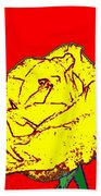 Abstract Yellow Rose Beach Towel