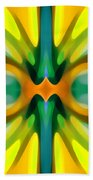Abstract Yellowtree Symmetry Beach Towel by Amy Vangsgard