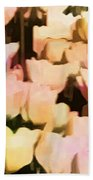 Abstracted Tulips Beach Towel