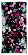 Abstraction Red And Green Beach Towel