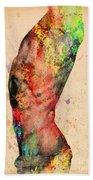 Abstractiv Body - 3 Beach Towel by Mark Ashkenazi