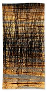 Abstract Reed And Water Patterns Beach Towel