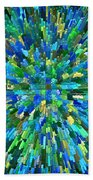 Abstrract Cubes Blue Beach Towel