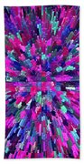 Abstrract Cubes Violet Beach Towel