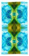 Abundant Life - Pattern Art By Sharon Cummings Beach Towel
