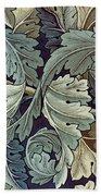 Acanthus Leaf Design Beach Towel