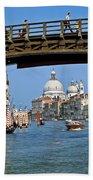 Accademia Bridge In Venice Italy Beach Towel