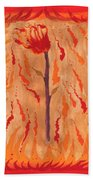 Ace Of Wands Beach Towel