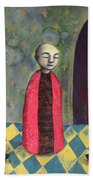 Acolyte With Fire Pots Beach Towel