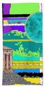 Acropolis Plaid Beach Towel