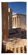Acropolis Temple Beach Towel by Brian Jannsen