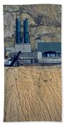 Across The Berkeley Pit Viewing  Beach Towel