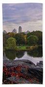 Across The Pond 2 - Central Park - Nyc Beach Towel