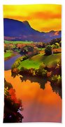 Across The Valley Beach Towel