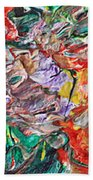 Acrylic  Madness Beach Towel