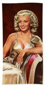 Actress Carole Landis Beach Towel