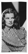 Actress Katharine Hepburn Beach Towel