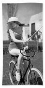Actress Plays Bike Polo Beach Towel