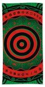 Adinkra Disk Pan-african II Beach Towel