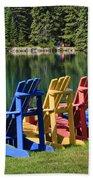 Adirondacks At Jasper Lodge Beach Towel