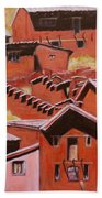 Adobe Village - Peru Impression II Beach Towel
