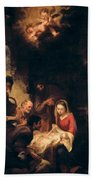 Adoration Of The Shepherds Beach Towel