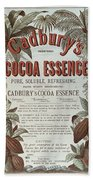 Advertisement For Cadburs Cocoa Essence From The Graphic Beach Towel