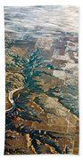 Aerial Of Rocky Mountains Over Montana State Beach Towel