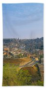 Aerial View Of A City, Toledo, Spain Beach Towel