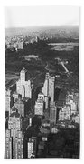 Aerial View Of Central Park Beach Towel