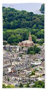 Aerial View Of Keswick In The Lake District Cumbria Beach Towel
