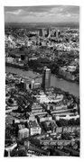 Aerial View Of London Beach Towel