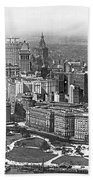 Aerial View Of Nyc Battery Beach Towel