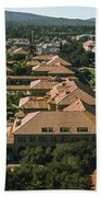Aerial View Of Stanford University Beach Towel