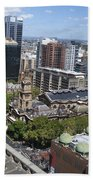 Aerial View Of Sydney City Hall Beach Towel