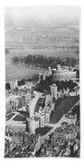 Aerial View Of Windsor Castle. Beach Towel