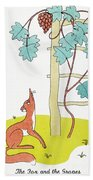 Aesop: Fox And Grapes Beach Towel