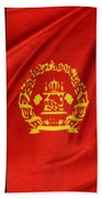 Afghanistan Flag Beach Towel by Les Cunliffe