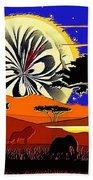 Africa At Sunset  Beach Towel